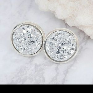 Jewelry - Silver Resin Cluster Studs